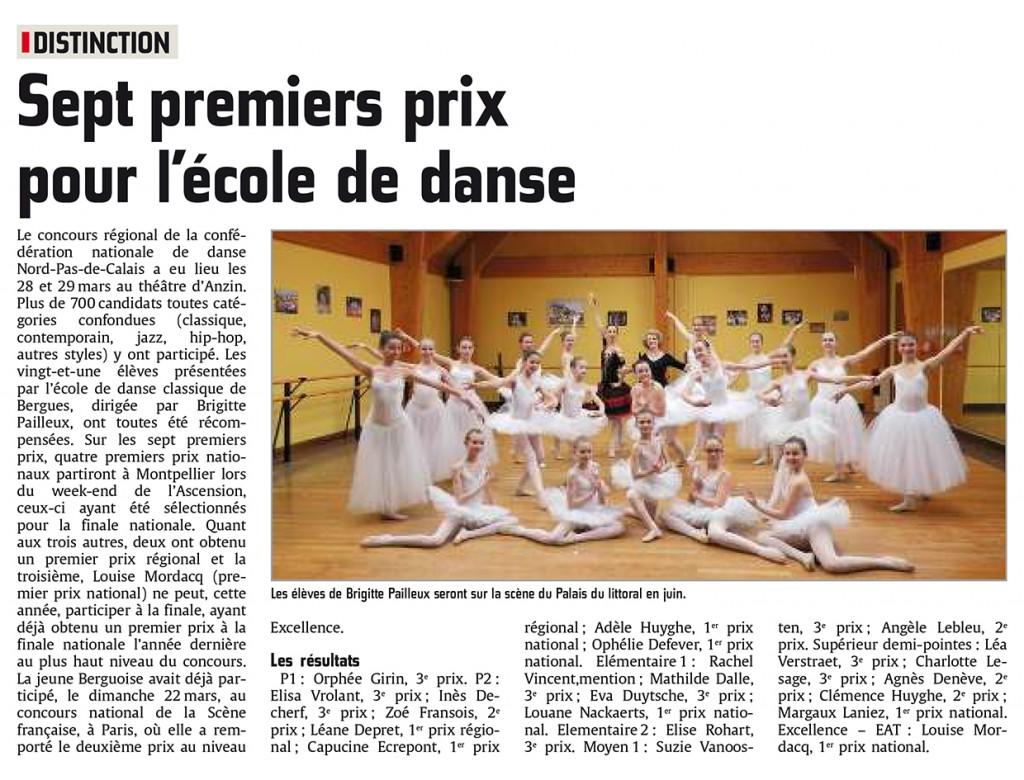 article CND régional journal des Flandres du 8 avril 2015
