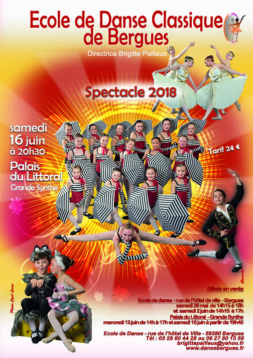 2018 affiche spectacle
